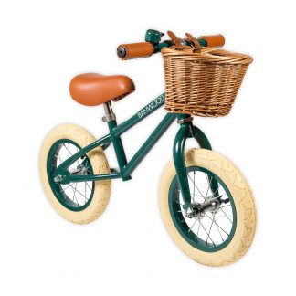 banwood first go groen retro loopfiets
