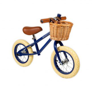 banwood first go navy retro loopfiets