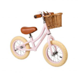 banwood first go roze retro loopfiets
