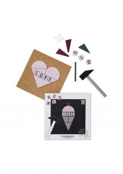 design letters hammer artist ice