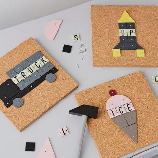 design letters hammer artist rocket en ice