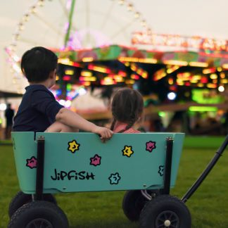 jipfish kids wagon aqua blue
