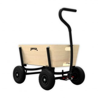 jipfish kids wagon natural wood zwart