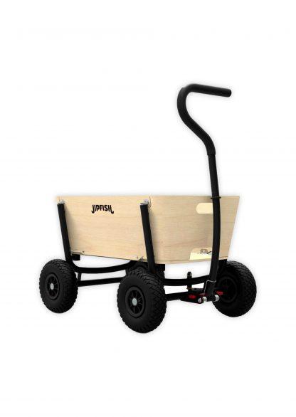 jipfish kids wagon natural wood zwart