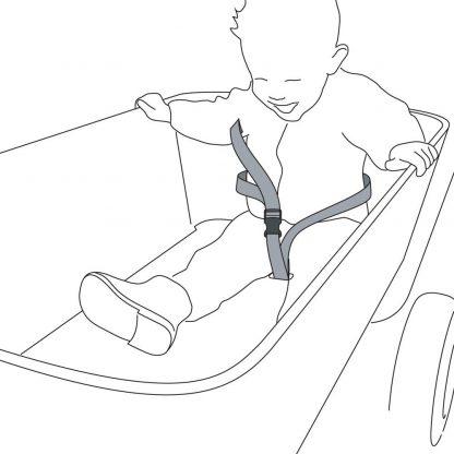 jipfish kids wagon veiligheidsgordel