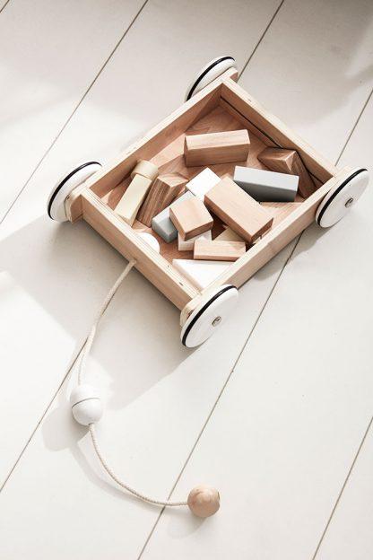 kids concept houten blokkenwagen neo