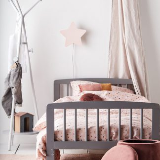 kids concept muurlampje ster roze