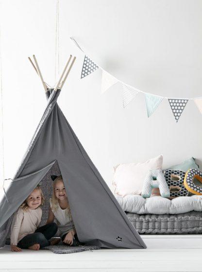 kids concept tipi tent grijs